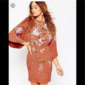 ASOS embroidered mini dress
